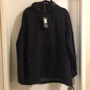 New black rain jacket size 2XL